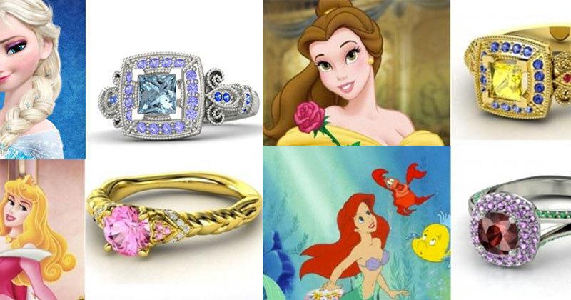 Bien connu Des bagues de fiançailles spéciales princesses Disney OY82