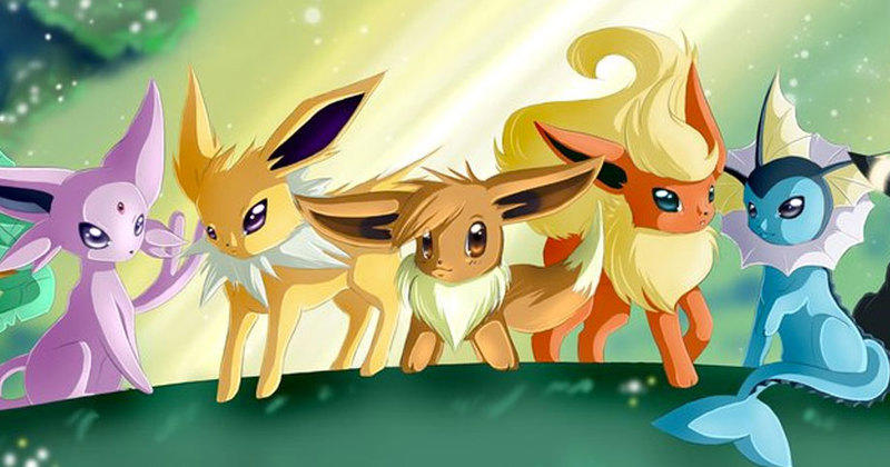 Pok mon toutes les volutions d 39 evoli dans leurs environnements - Famille evoli pokemon ...