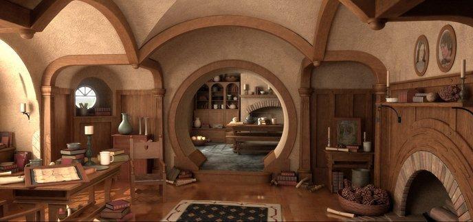 un fan du seigneur des anneaux recr cul de sac avec des ballons. Black Bedroom Furniture Sets. Home Design Ideas