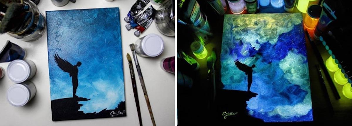 Cet Artiste Peint Des Tableaux Qui Changent De Couleur Au Cours De La Journee