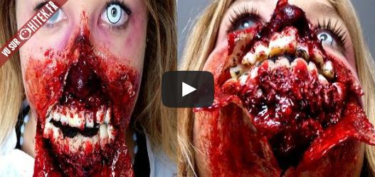 tutoriel r aliser un maquillage zombie effrayant. Black Bedroom Furniture Sets. Home Design Ideas