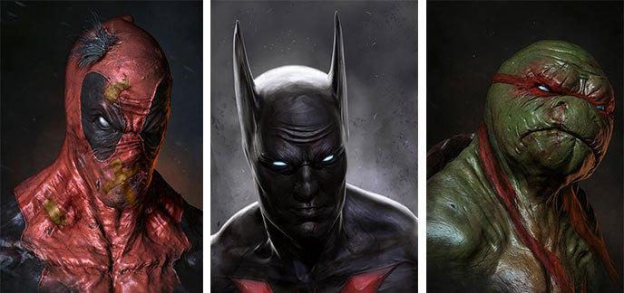 Les Super Heros Dc Et Marvel Magnifiquement Illustres Par Adnan Ali