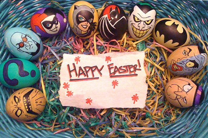Œufs de Pâques batman