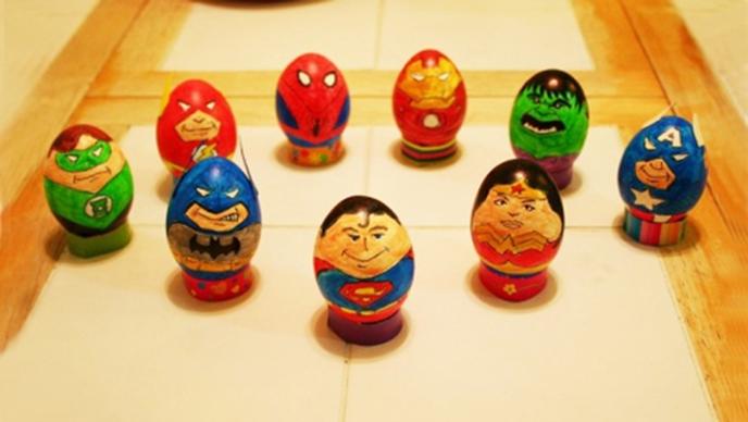 Œufs de Pâques héros