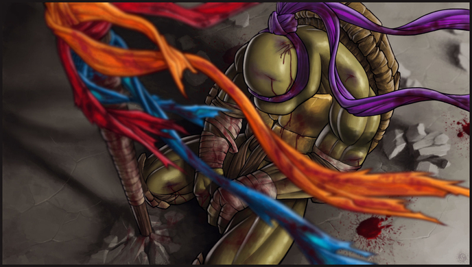 Goodbye my brothers 39 les tortues ninja d vast es par la - Rat tortues ninja ...