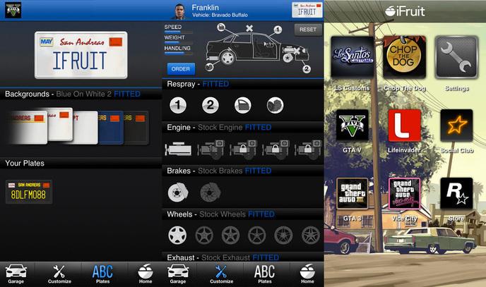 Gran Theft Auto iFruit Custom Vehicules
