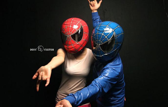 casque spiderman