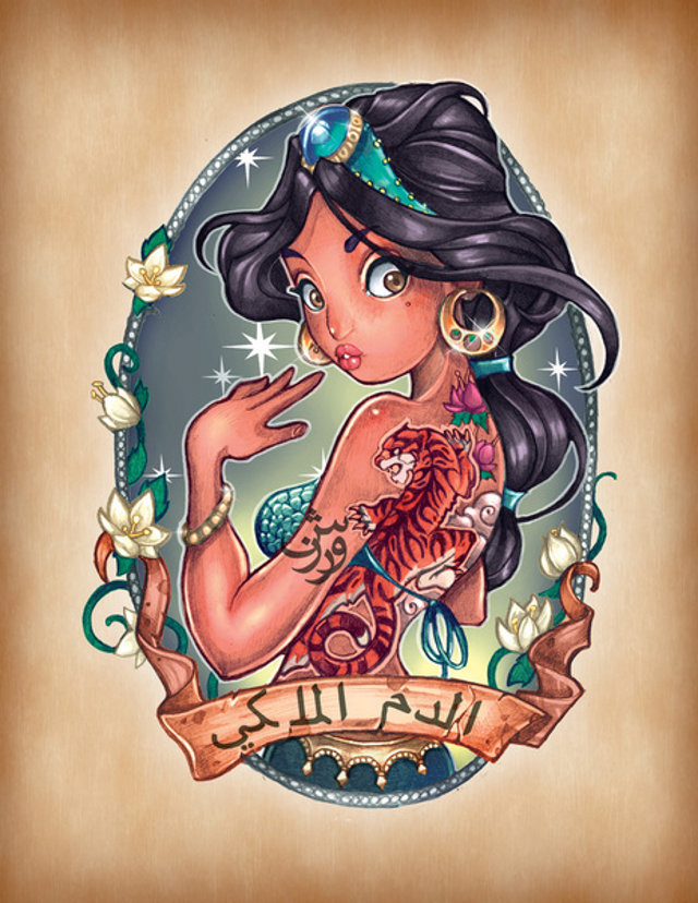 Les Princesses Disney Se Transforment En Pin Up Tatouees