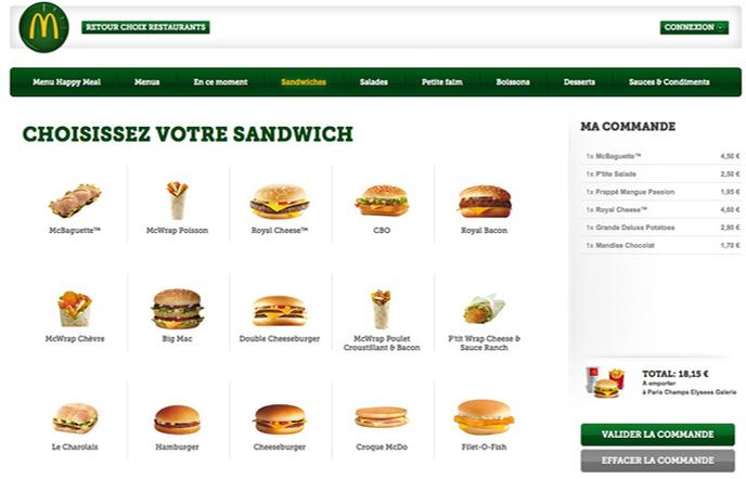 Commande McDonald's