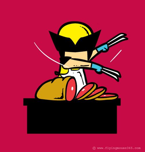 Super-héros travail mi-temps