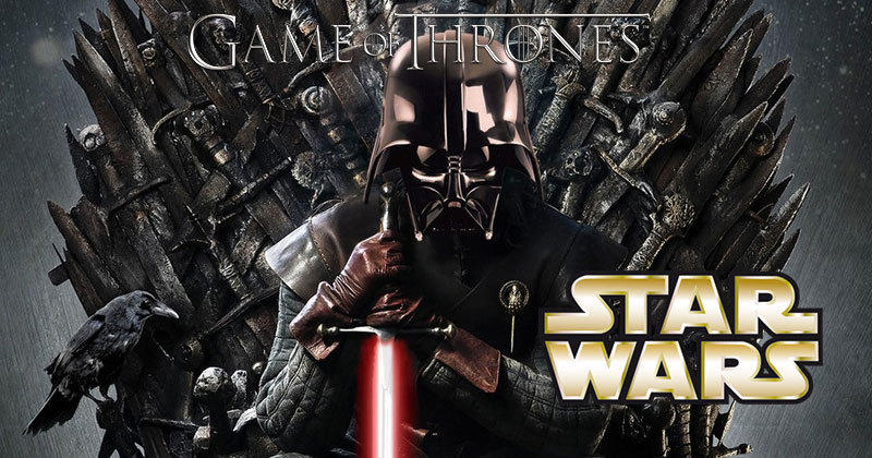 star wars vs game of thrones en 14 images. Black Bedroom Furniture Sets. Home Design Ideas