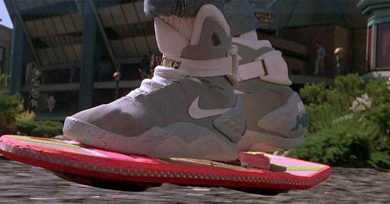 retour vers le futur nike hoverboard placement produit