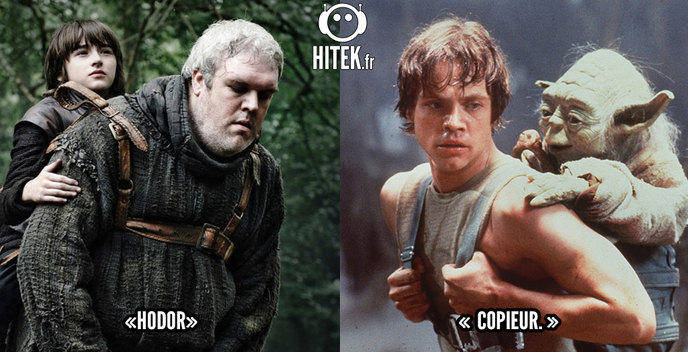 comparaison game of thrones star wars 7