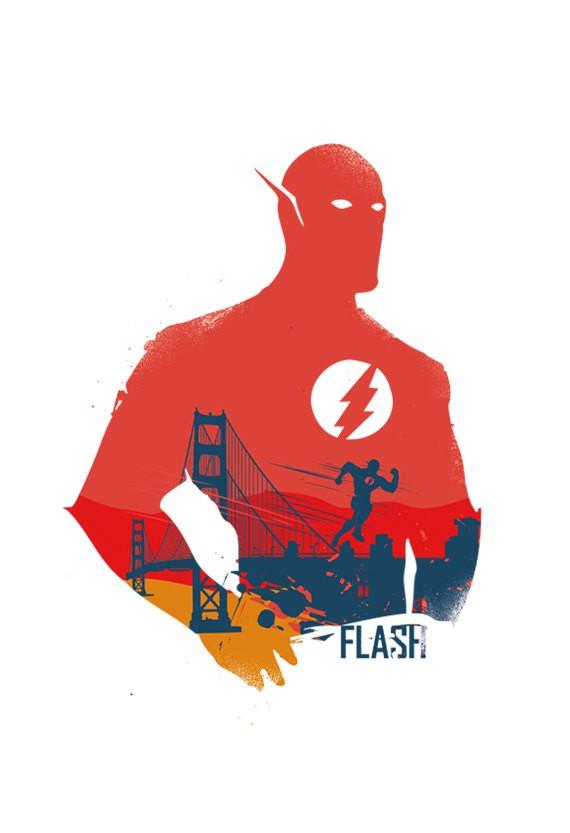 De superbes affiches de super h ros marvel et dc par 2toastdesign - Flash le super heros ...