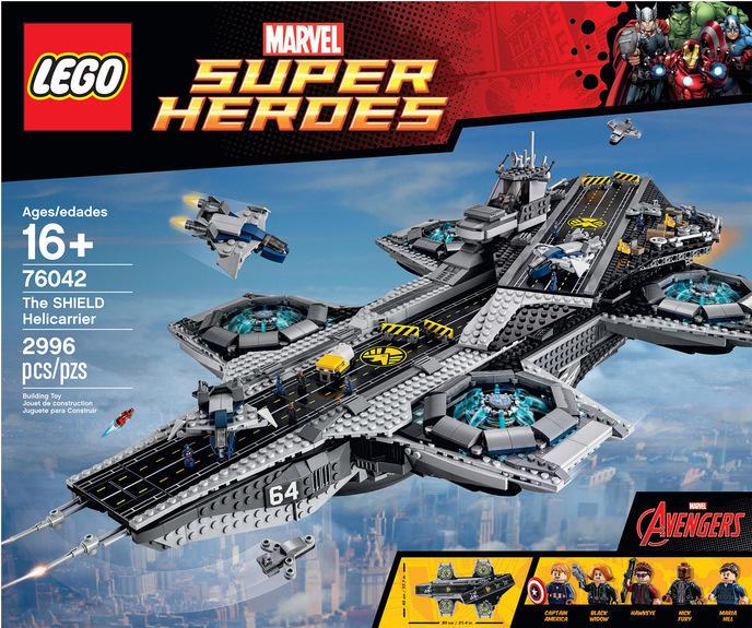 Porte Il Le Dans Volant Lego Et Avion Du Lance Est Avengers Shield I6vbf7Yyg