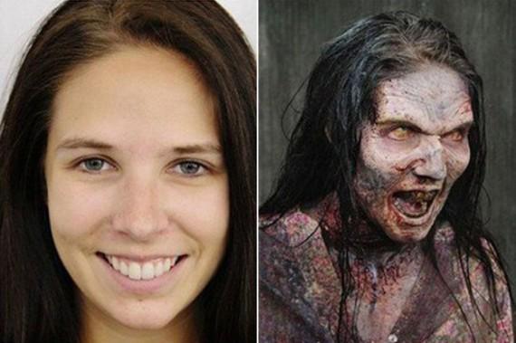 avant après maquillage walking dead 9