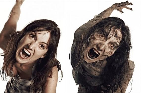avant après maquillage walking dead 11