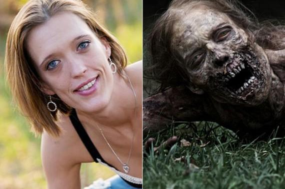 avant après maquillage walking dead 1