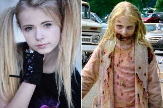avant après maquillage walking dead 2