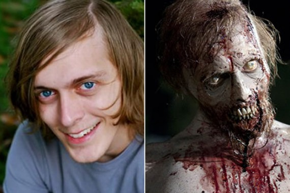 avant apr s la transformation des acteurs de the walking dead en zombies