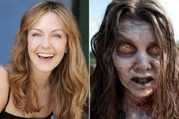 avant après maquillage walking dead 5