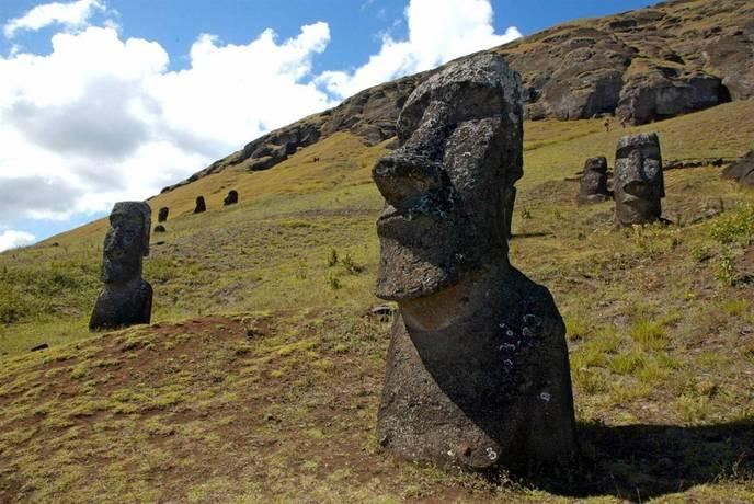 Berühmt On sait enfin comment les statues de l'île de Pâques ont été  DU25