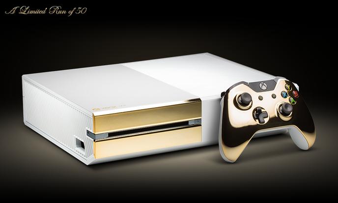 Une Edition Bling Bling De La Xbox One En Or 24 Carats
