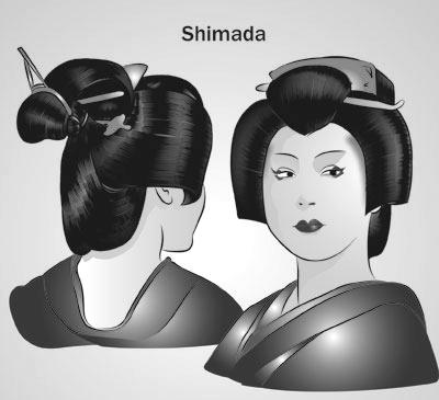 Sans oublier la fameuse coupe de la mariée qui se nomme Marumage, étant  aussi un chignon des plus connus parmi les coiffures.