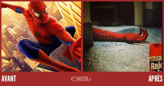 avant après spiderman 21