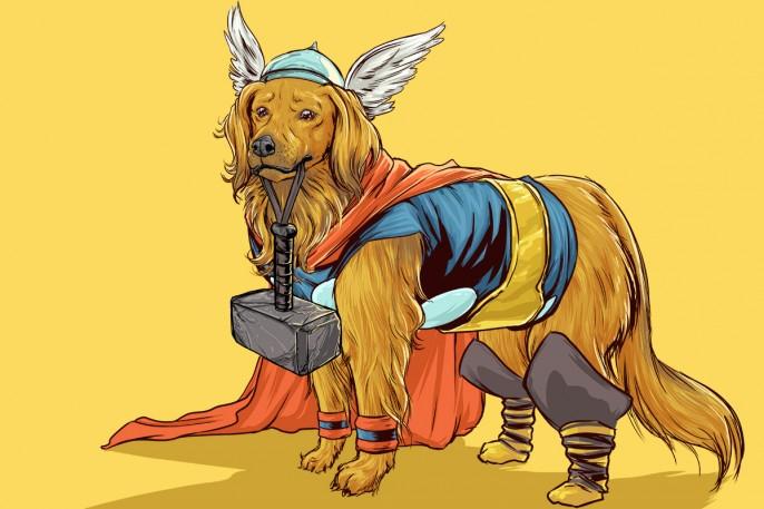 Les Chiens En Mode Super Héros Marvel