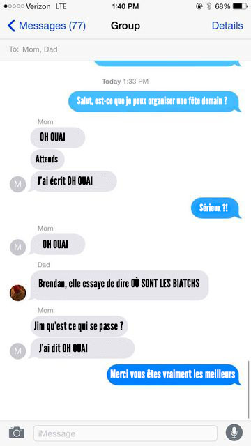 troll sms parents