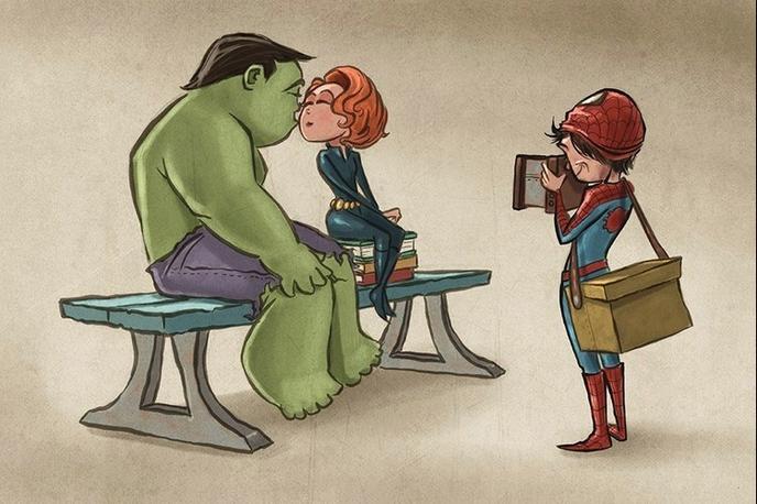 Hulk et Black Widow