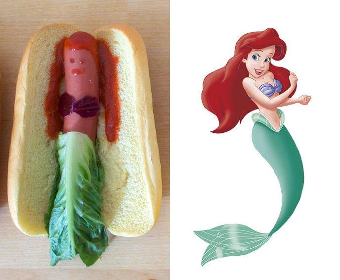 Wtf les princesses disney transform es en hot dogs - Jeux de ariel et son prince ...