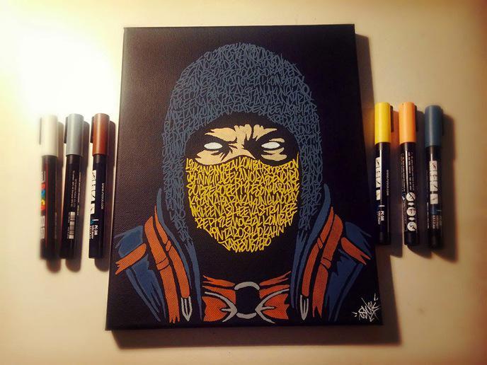 oeuvres artiste oskunk 17 - Dessin Graffiti