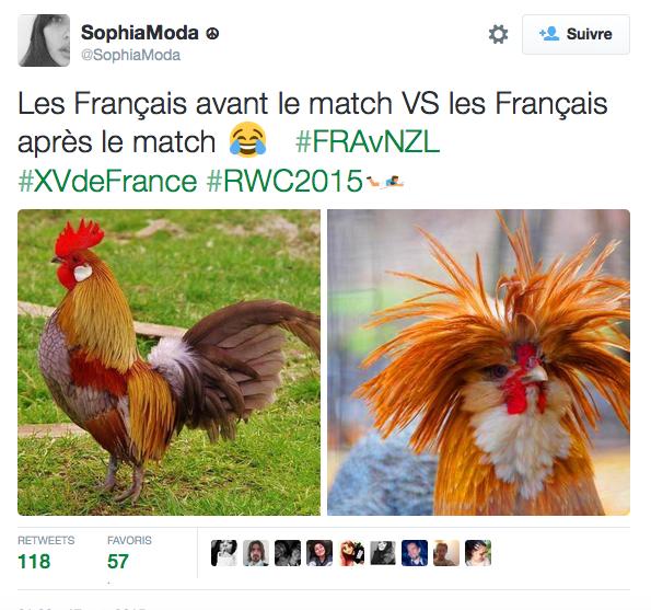 tweet rugby defaite france