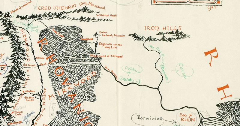 Une Incroyable Carte De La Terre Du Milieu Annotee Par Tolkien Vient D Etre Retrouvee