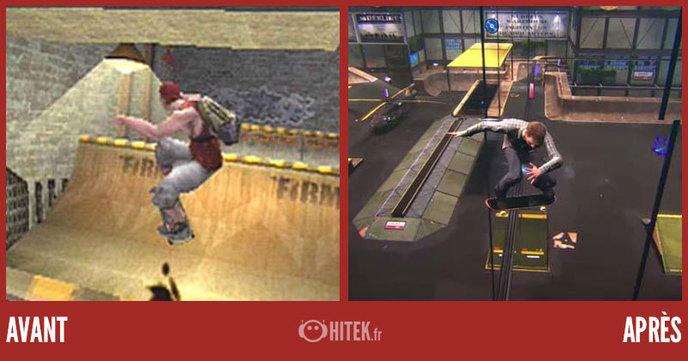 comparaison jeux video ps1 ps4 1