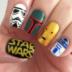 nail art star wars 9