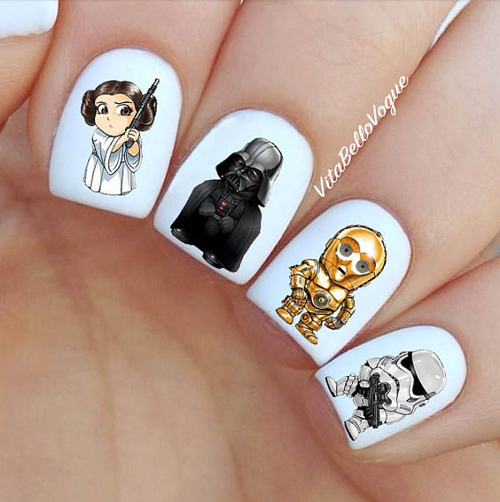 nail art star wars 26