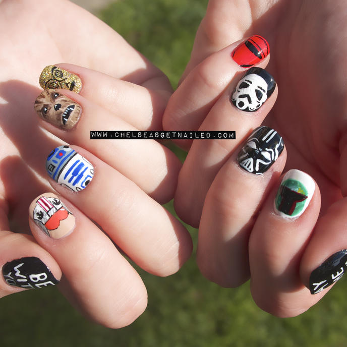 nail art star wars 4