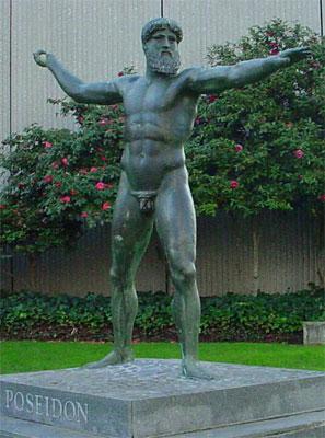 Pourquoi les statues grecques ont-elles des petits pénis? Posiden
