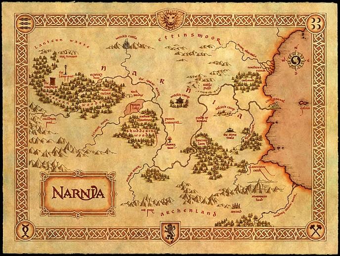 map narnia