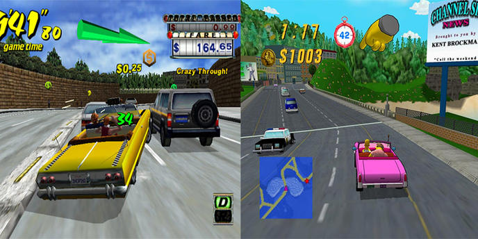 crazy taxi simpsons