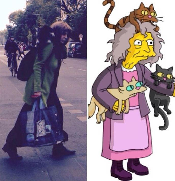 5 La folle aux chats , Les Simpsons