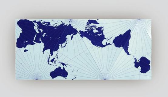 Carte Du Monde Realiste.Une Carte Du Monde Realiste Gagne Un Prix De Design Au Japon