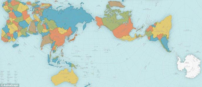 Une carte du monde réaliste gagne un prix de design au Japon