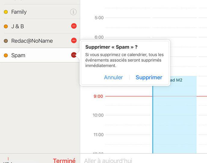 Spam Calendar : Apple est sur le coup
