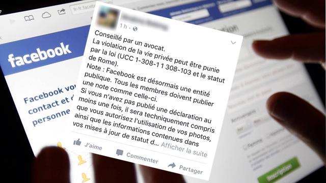 Facebook: non, un simple statut ne protège toujours pas les données privées