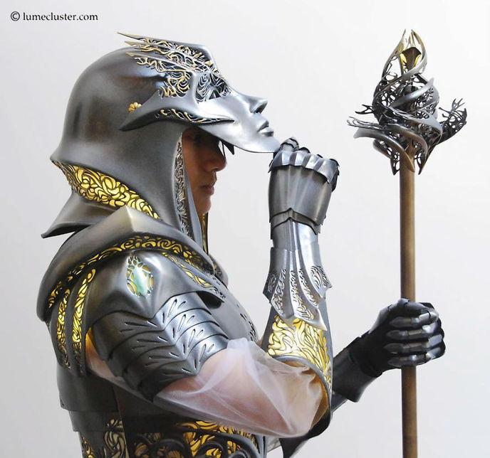 Armure Futuriste 518 heures ont été requises pour créer cette sublime armure