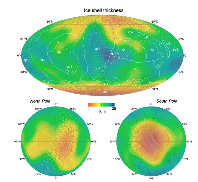 Cartographie de chaleur sur Encelade